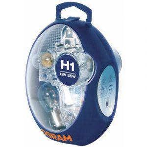 Osram Coffret secours 6 ampoules voiture H1 12 Volts Ref 875217