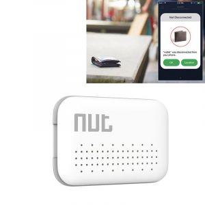 WeWoo Alarme Anti perte blanc pour iPhone, Galaxy, Huawei, Xiaomi, LG, HTC et autres smartphone Écrou Mini Intelligent Bluetooth 4.0 Anti-perte Tracking Tag Patch,