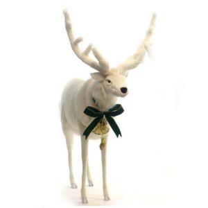 Anima Peluche Renne blanc 120 cm