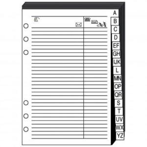 Quo Vadis 721006Q - Recharge répertoire téléphonique pour Timer 17 papier blanc