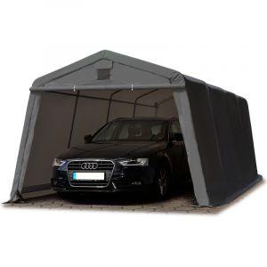 Intent24 TOOLPORT Abri/Tente garage PREMIUM 3,3 x 6,2 m pour voiture et bateau - toile PVC 500 g/m² imperméable gris.FR