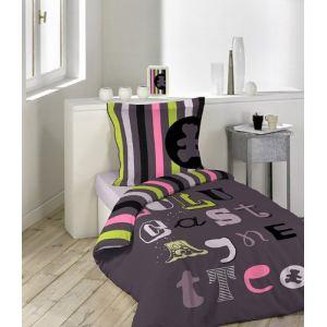 Lulu Castagnette Atelier - Housse de couette et taie 100% coton 57 fils (140 x 200 cm)