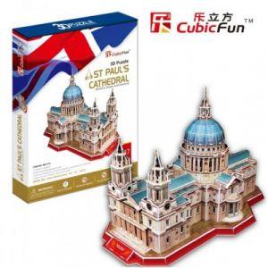 CubicFun Royaume Uni : Cathédrale Saint-Paul de Londres (Difficulté 6/8) Puzzle 3D 107 pièces
