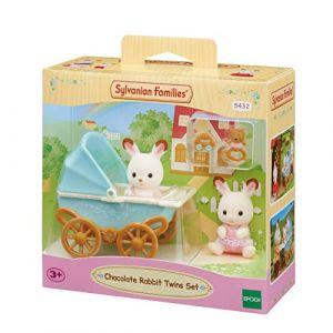 Epoch 5432 - Les jumeaux lapin chocolat et poussette double