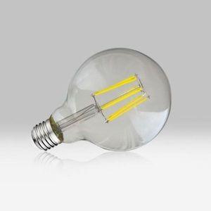 Image de Vision-El Ampoule Led 8W (70W) FILAMENT E27 Globe clair D95 Blanc chaud 2700°K -