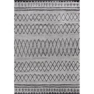 TOUAREG Tapis de salon style berbère - 120 x 170 cm - 100% polypropylène - Gris - TOUAREG Tapis de salon style berbère - 120x170 cm - 100% polypropylène - Gris Croisillon