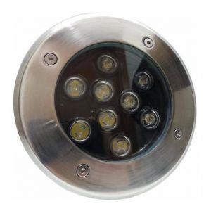 Silamp Spot Extérieur Encastrable Sol LED 9W IP65 60 - couleur eclairage : Blanc Froid 6000K - 8000K