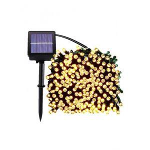 Lumisky Lumi Jardin Warm Guirlande Lumineuse lumière Blanc Chaud Solaire YOGY Solar 200 LEDs 1700cm, Noir, 1700