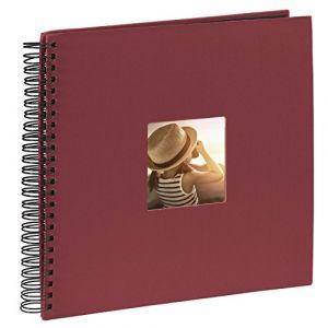 """Hama Album photo à spirales""""Fine Art"""", 36 x 32 cm, 50 pages noires, bordeaux"""