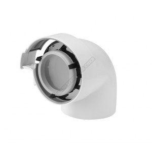 Ubbink Coude condensation gaz/fioul pptl/pvc 90 blanc 80/125