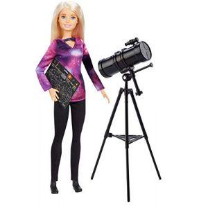 Mattel Métiers National Geographic poupée Astronome et Accessoire Télescope, Jouet pour Enfant, GDM47