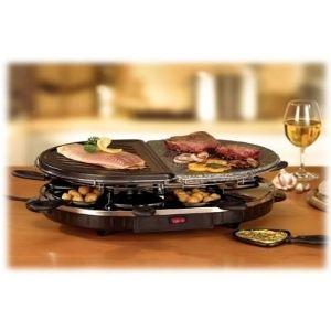 Tristar RA-2946 - Raclette, grill et pierre à cuire 8 personnes