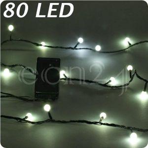 Kaemingk Guirlande lumineuse LED, boules blanches chaudes 80 LED