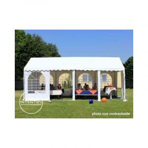 Intent24 Fr 4x6m tente de réception, PVC env. 550g/m², H. 2m, blanc