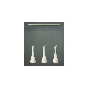 Mantra Suspension Zack longiligne 3 ampoules en nickel satiné 20 W