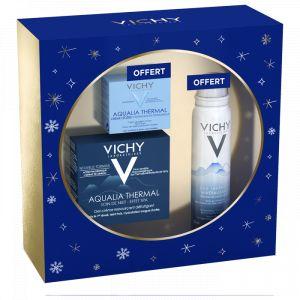 Vichy Aqualia Thermal Nuit - Coffret Gel Crème Nuit + eau thermale minéralisante + Crème Légère Aqualia