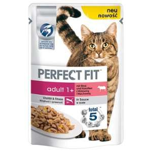 Perfect fit Adult 1+ pour chat - b%u0153uf carottes 24x 85g