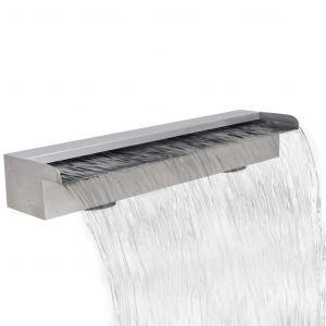 VidaXL Lame d'eau rectangulaire pour piscine en acier inoxydable 60 cm