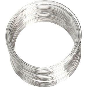 Creotime Bracelet spirale argenté - 0,8 mm x 6 cm