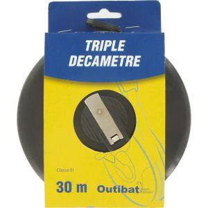 Outibat Mesure decamètre ruban fibre Triple décamètre