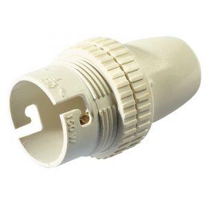 Legrand Douille à baïonnettes B22 en plastique avec vis + bague - Accessoire luminaire