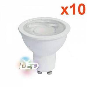 Silamp Ampoule LED GU10 8W 220V PAR16 COB (Pack de 10) - couleur eclairage : Blanc Neutre 4000K - 5500K