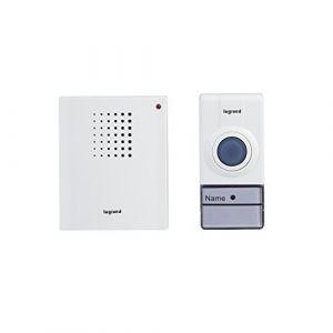 Legrand 094250 Set de sonnette sans fil, blanc, 50 m