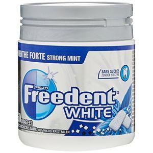 Freedent Chewing-Gums Dragées White Menthe Forte en Boîte 84 g - Lot de 6