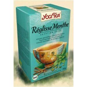 Yogi Tea Réglisse Menthe (Épice Egyptienne) - Infusion ayurvédique Bio d'herbes et d'épices
