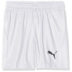 Puma LIGA Training Core - Short de jogging - Mixte Enfant - Blanc Blanc/ Noir) - FR: 8 ans (Taille Fabricant: 128)