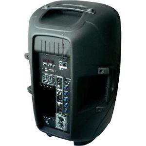 "Ibiza Sound QMS15A - Enceinte active 300W 15"" avec lecteur USB/SD + Bluetooth"