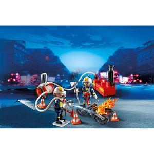 Playmobil 5365 City Action - Pompiers avec lance à incendie