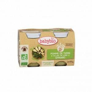 BabyBio Petits pots pomme de terre et épinards 2 x 130 g