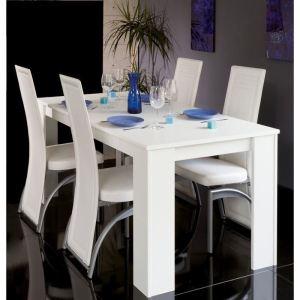 table de salle manger avec 4 chaises city - Table De Salle A Manger Blanc Laque