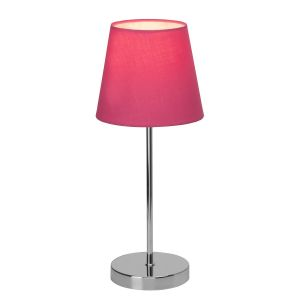 Brilliant AG Lampe de table LED E14 40 W EEC: selon lampoule (A++ - E) Kasha 94874/17 rose, chrome