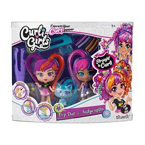 Silverlit Poupée Curli Girls - Coffret 2 poupées et un animal