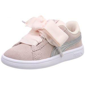 Puma Smash V2 Ribbon AC Inf, Sneakers Basses Mixte Bébé, Rose (Pearl Silver), 25 EU