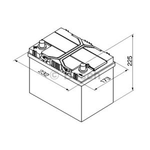 Bosch 0092S40250 - Batterie de démarrage
