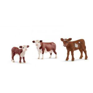 Schleich Figurines animaux de la ferme vach et veau