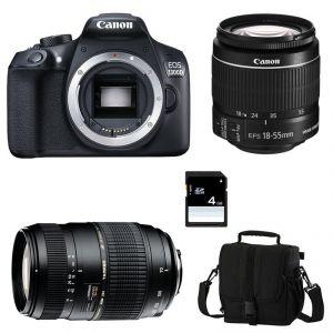 Canon EOS 1300D (avec 2 objectifs 18-55mm et Tamron 70-300mm)