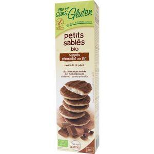 Ma vie sans gluten Petits sablés sans gluten à la vanille nappé choco (150g)