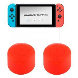 Nintendo Pour Switch Game Bouton Rouge Silicone Caps Housse De Protection 2 Pcs