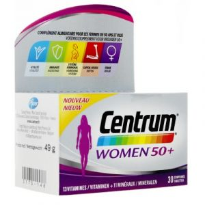 Centrum Multivitamines Women 50+ - 30 comprimés