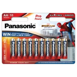 Panasonic Pile LR6 6+4 SPIDERMAN