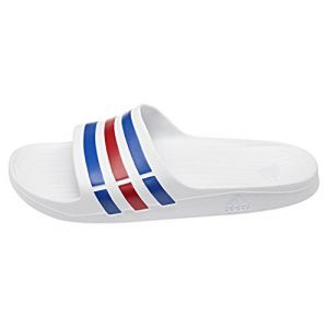 separation shoes 7ea45 abc81 Adidas Duramo Slide - Mules Natation - Mixte Adulte - Multicolore  (Blanco Azulaz