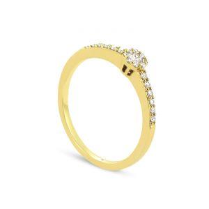 Rêve de diamants 3612030088711 - Bague en or jaune sertie de diamants