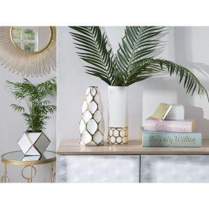 Beliani Vase en céramique blanche AVILA