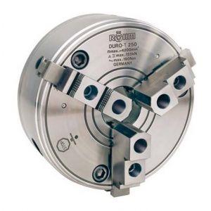 Rohm Mandrin à crémaillère à trois mors DURO-T avec dispositif de centrage cylindrique DIN 6350, Taille : 160 mm, Pouces 6.1/4
