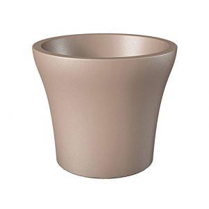 Scheurich 55448 268/30 No1 Style Pot De Fleurs Plastique Living Taupe 29 X 29 X 25 Cm
