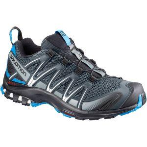 Salomon XA Pro 3D, Chaussures de Trail Homme, Gris (Stormy Weather/Black/Hawaiian Surf 000), 45 1/3 EU